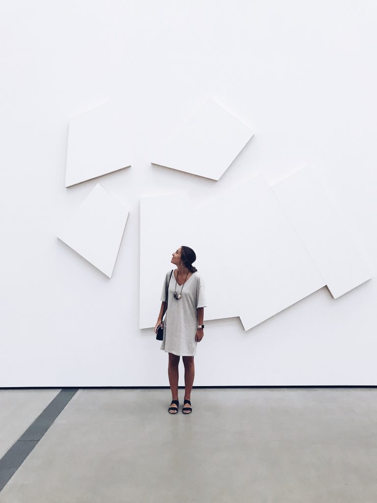 In front of art