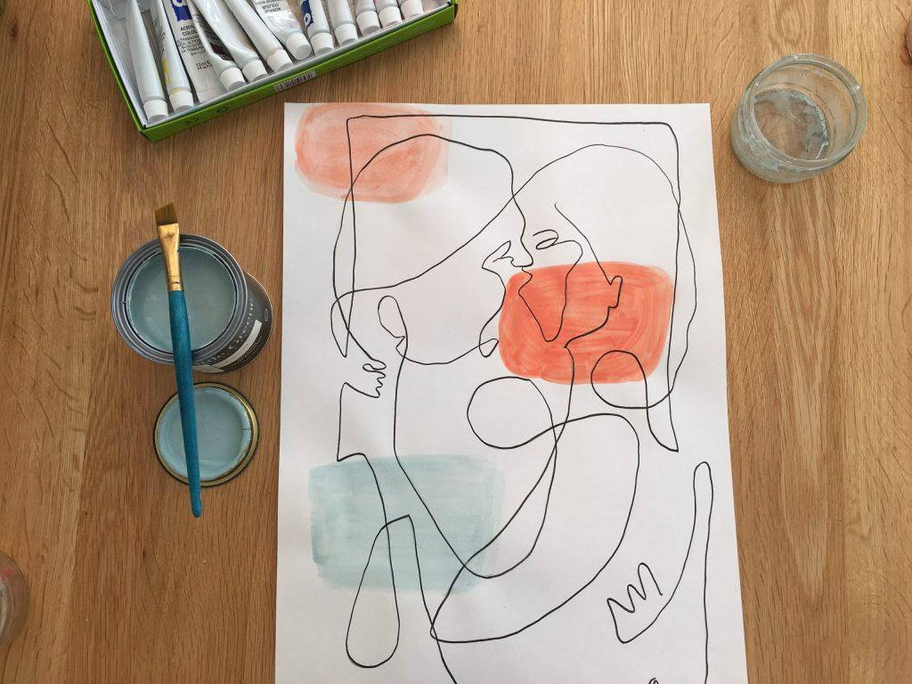 Artwork mixing colours