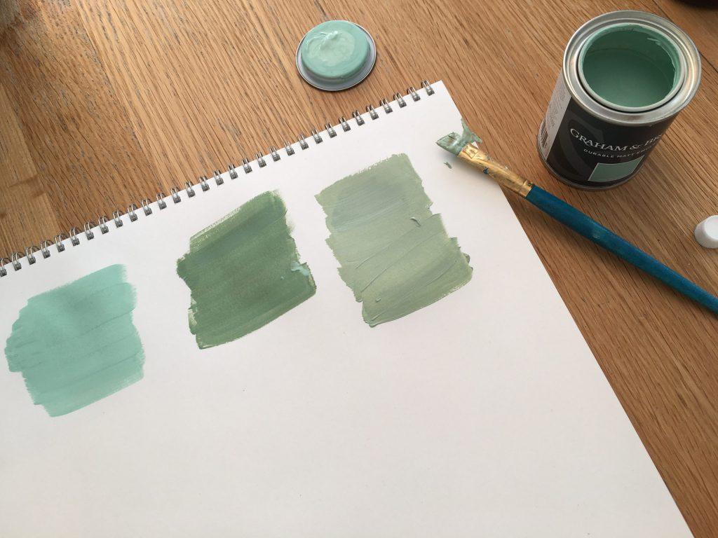 Mixing green
