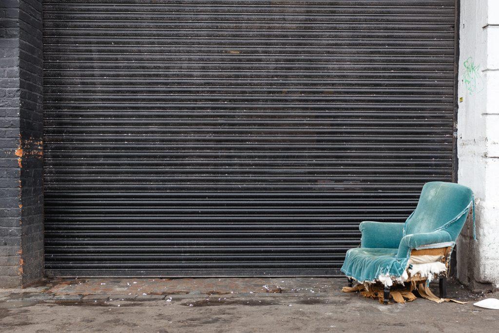 Damaged armchair