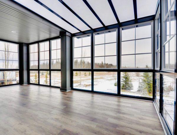 wooden floor area