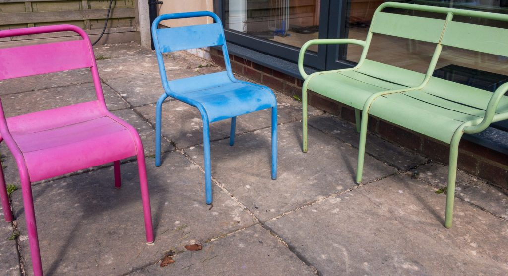 Metal kids garden furniture